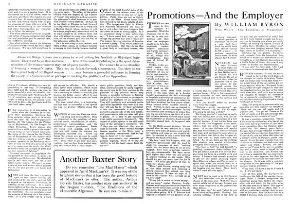 Article Preview: Promotions—And the Employer, July 1916 | Maclean's