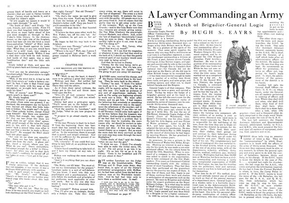 Article Preview: A Lawyer Commanding an Army, July 1916 | Maclean's