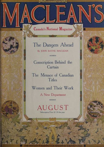 Issue: - August 1916 | Maclean's