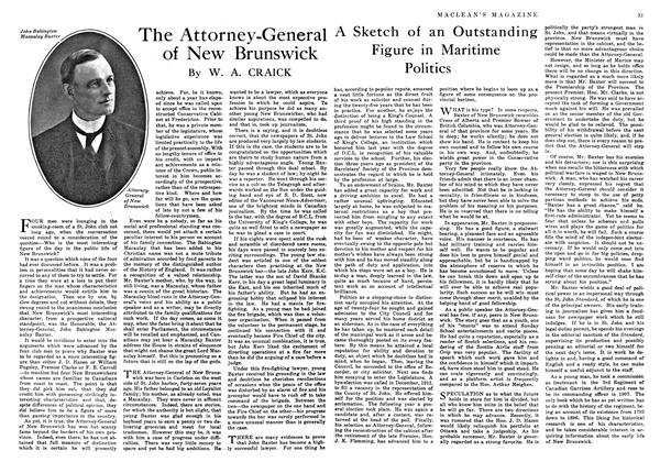 Article Preview: The Attorney-General of New Brunswick, August 1916 | Maclean's