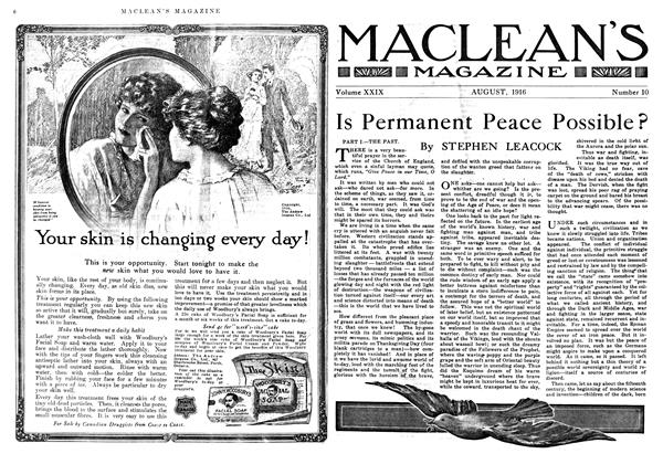 Article Preview: Is Permanent Peace Possible?, August 1916 | Maclean's