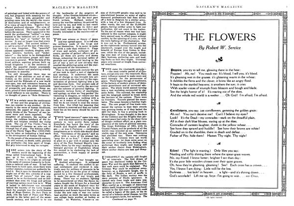 Article Preview: THE FLOWERS, August 1916 | Maclean's