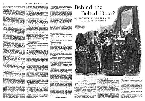 Article Preview: Behind the Bolted Door?, August 1916 | Maclean's