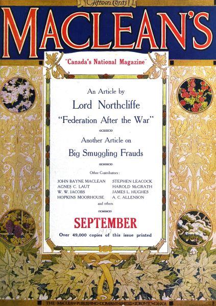 Issue: - September 1916 | Maclean's