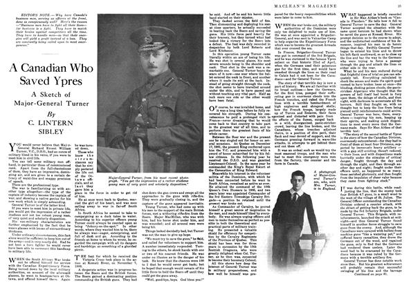Article Preview: A Canadian Who Saved Ypres, September 1916 | Maclean's
