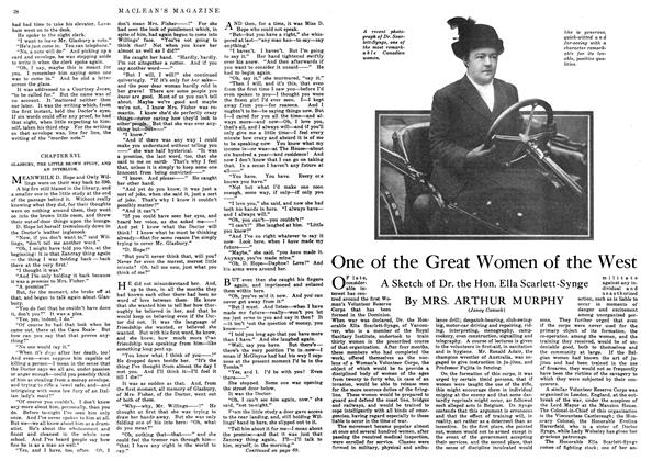 Article Preview: One of the Great Women of the West, September 1916 | Maclean's
