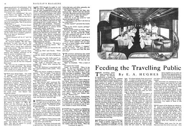 Article Preview: Feeding the Travelling Public, September 1916 | Maclean's