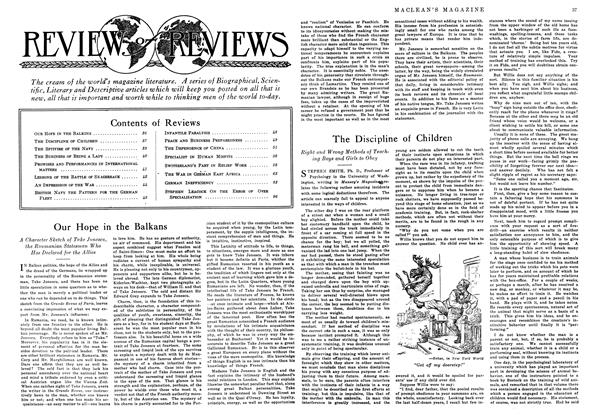 Article Preview: The Discipline of Children, September 1916 | Maclean's