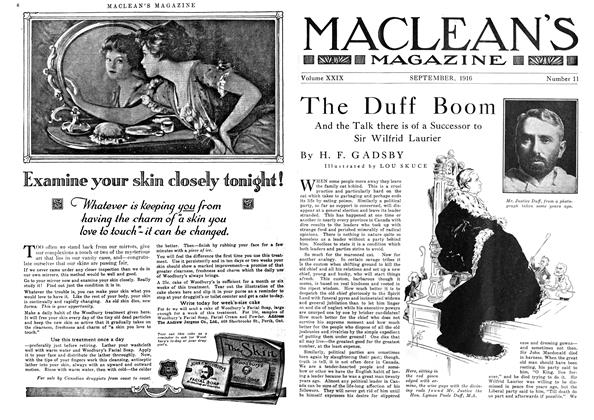 Article Preview: The Duff Boom, September 1916 | Maclean's