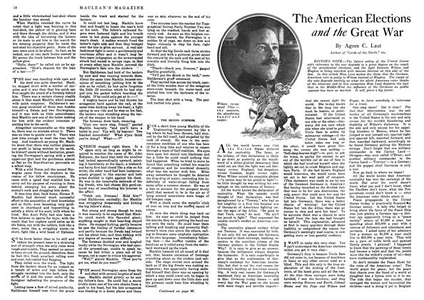Article Preview: The American Elections and the Great War, October 1916 | Maclean's
