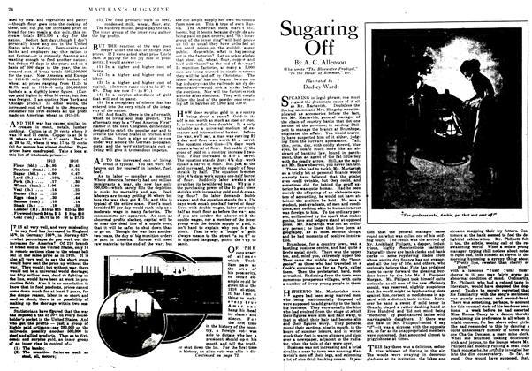 Article Preview: Sugaring Off, January 1917 | Maclean's