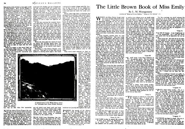 Article Preview: The Little Brown Book of Miss Emily, January 1917 | Maclean's