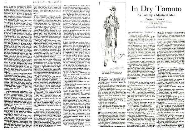 Article Preview: In Dry Toronto, January 1917 | Maclean's