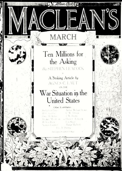 Issue: - March 1917 | Maclean's