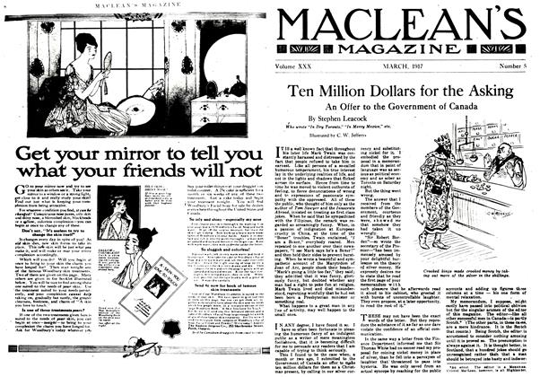 Article Preview: Ten Million Dollars for the Asking, March 1917 | Maclean's