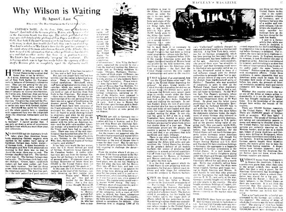 Article Preview: Why Wilson is Waiting, April 1917 | Maclean's