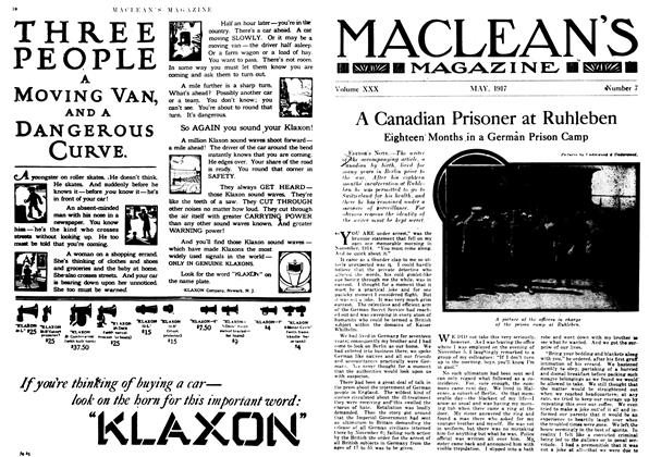 Article Preview: A Canadian Prisoner at Ruhleben, May 1917 | Maclean's