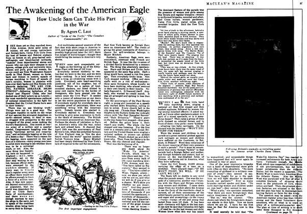 Article Preview: The Awakening of the American Eagle, June 1917 | Maclean's