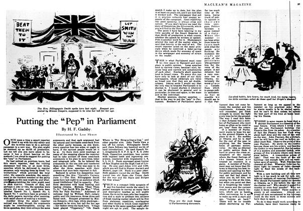 """Article Preview: Putting the """"Pep"""" in Parliament, June 1917   Maclean's"""