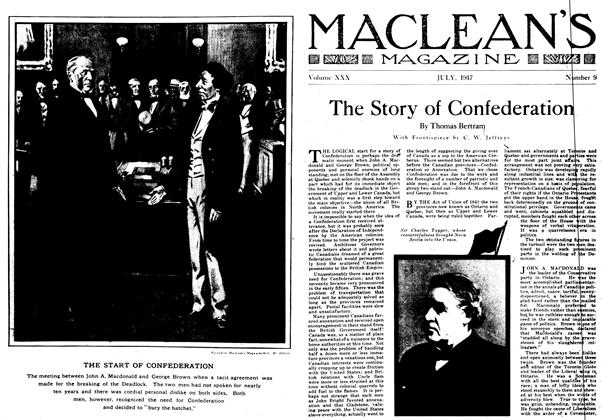 Article Preview: The Story of Confederation, July 1917 | Maclean's