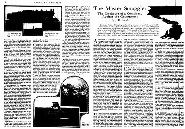 Article Preview: The Master Smuggler, July 1917 | Maclean's
