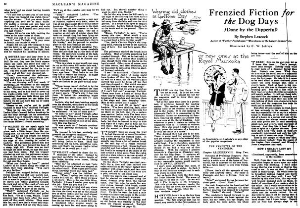 Article Preview: Frenzied Fiction for the Dog Days, August 1917 | Maclean's