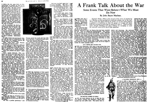 Article Preview: A Frank Talk About the War, September 1917 | Maclean's