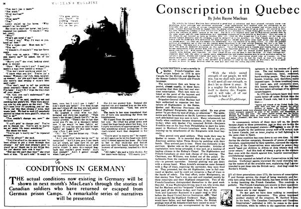 Article Preview: Conscription in Quebec, October 1917 | Maclean's