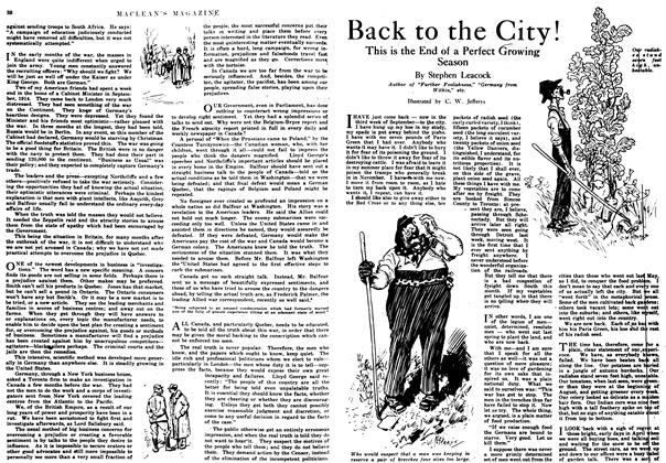 Article Preview: Back to the City!, October 1917 | Maclean's