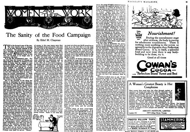 Article Preview: The Sanity of the Food Campaign, October 1917 | Maclean's