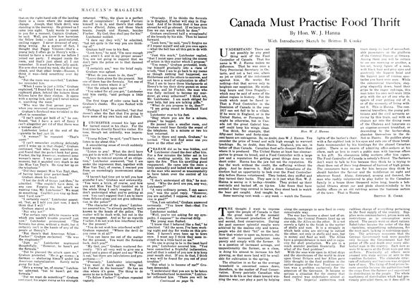 Article Preview: Canada Must Practise Food Thrift, November 1917 | Maclean's