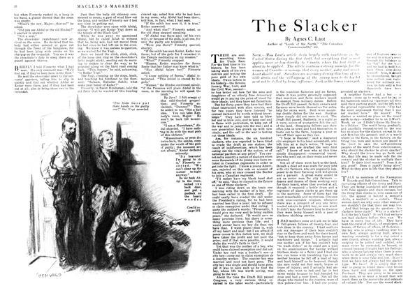 Article Preview: The Slacker, November 1917 | Maclean's