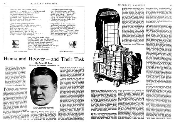 Article Preview: Hanna and Hoover — and Their Task, December 1917 | Maclean's