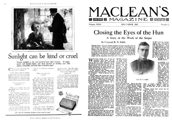 Article Preview: Closing the Eyes of the Hun, December 1917 | Maclean's