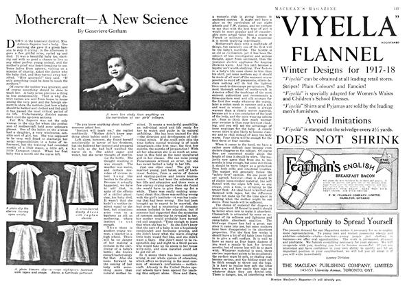 Article Preview: Mothercraft—A New Science, December 1917   Maclean's
