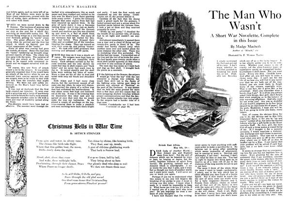Article Preview: The Man Who Wasn't, December 1917 | Maclean's