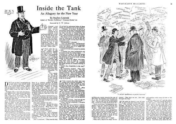 Article Preview: Inside the Tank, January 1918 | Maclean's
