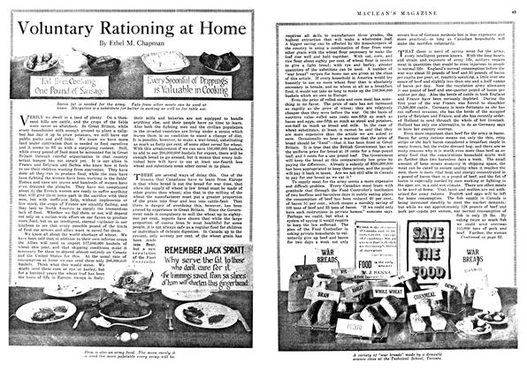 Article Preview: Voluntary Rationing at Home, January 1918 | Maclean's
