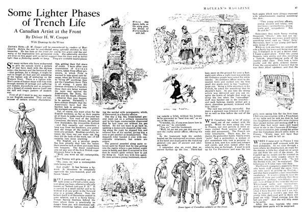 Article Preview: Some Lighter Phases of Trench Life, January 1918 | Maclean's