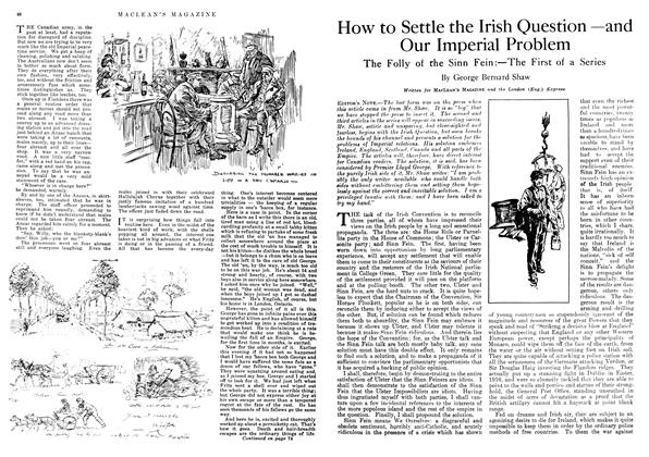 Article Preview: How to Settle the Irish Question —and Our Imperial Problem, January 1918 | Maclean's
