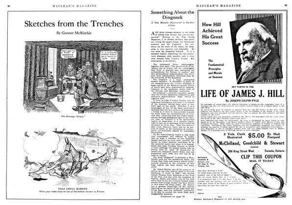 Article Preview: Sketches from the Trenches, January 1918 | Maclean's