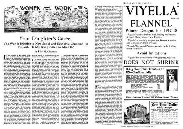 Article Preview: Your Daughter's Career, January 1918 | Maclean's