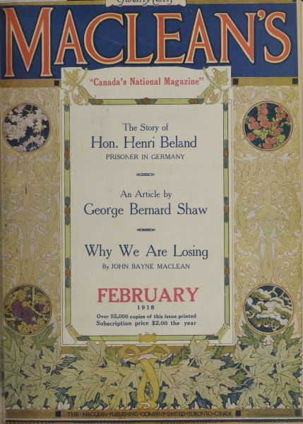 Issue: - February 1918 | Maclean's