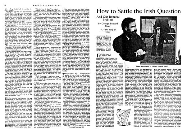 Article Preview: How to Settle the Irish Question, February 1918 | Maclean's