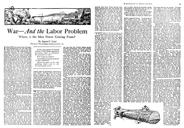 Article Preview: War—And the Labor Problem, February 1918 | Maclean's