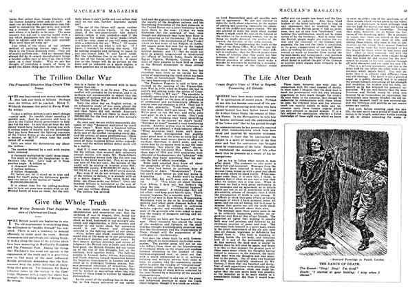 Article Preview: The Life After Death, February 1918 | Maclean's