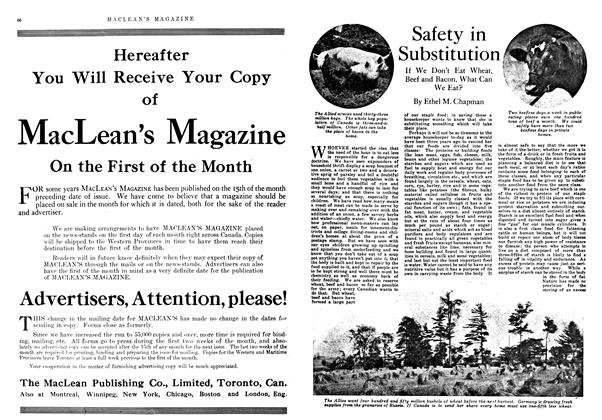 Article Preview: Safety in Substitution, February 1918 | Maclean's