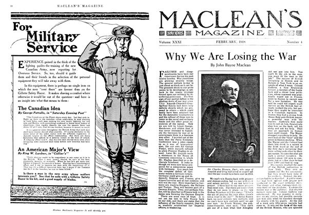 Article Preview: Why We Are Losing the War, February 1918 | Maclean's
