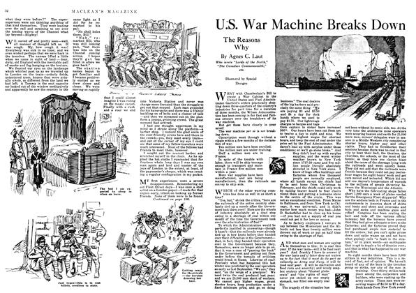 Article Preview: U.S. War Machine Breaks Down, March 1918 | Maclean's