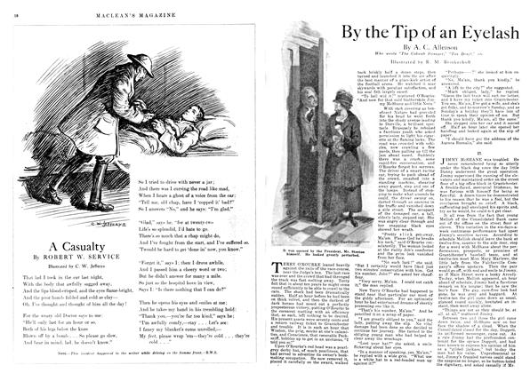 Article Preview: By the Tip of an Eyelash, March 1918 | Maclean's